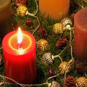Adventskranz 2015 am 1. Advent, aus: Ein nadelloser Adventskranz