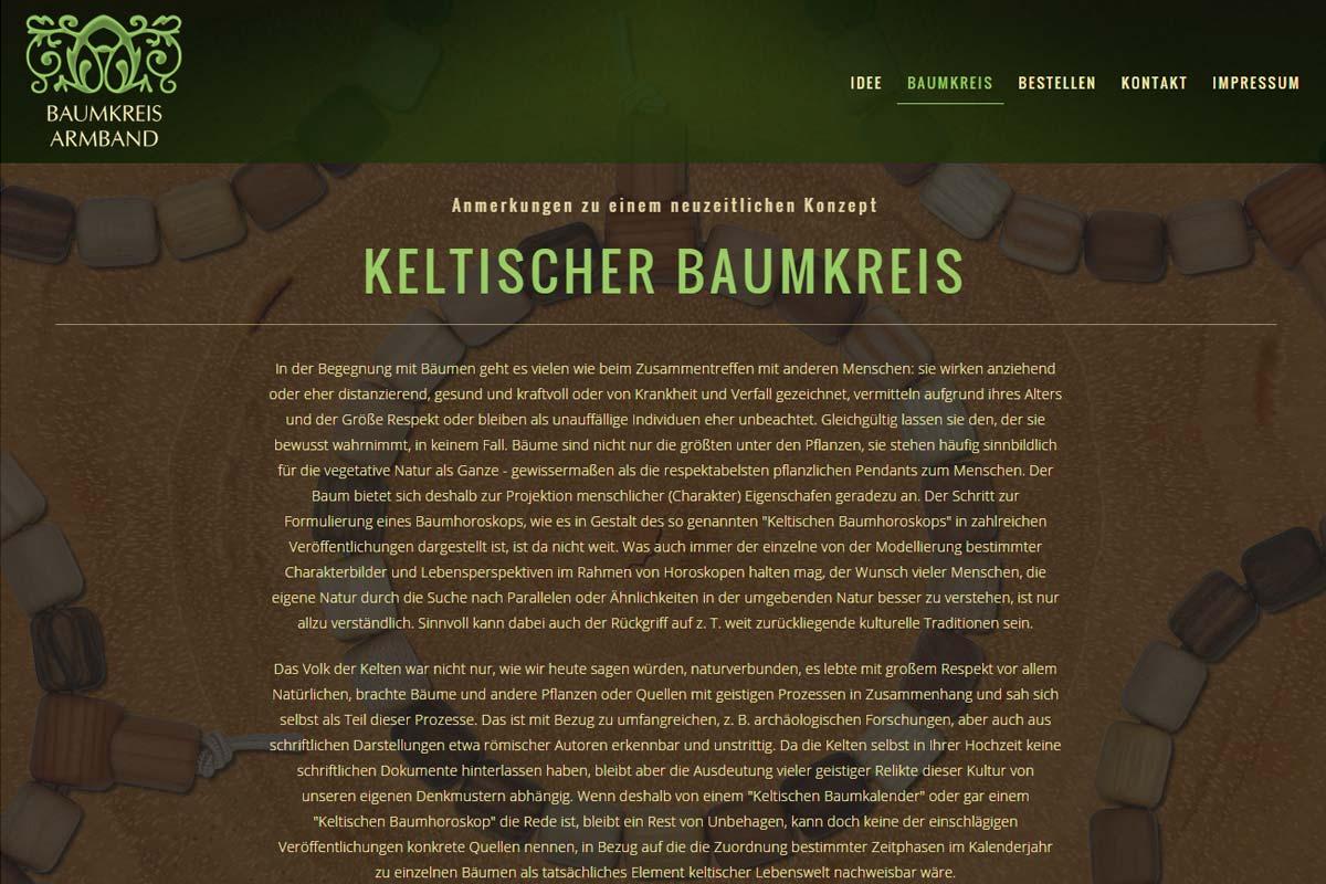 Screenshot der Website baumkreis.com