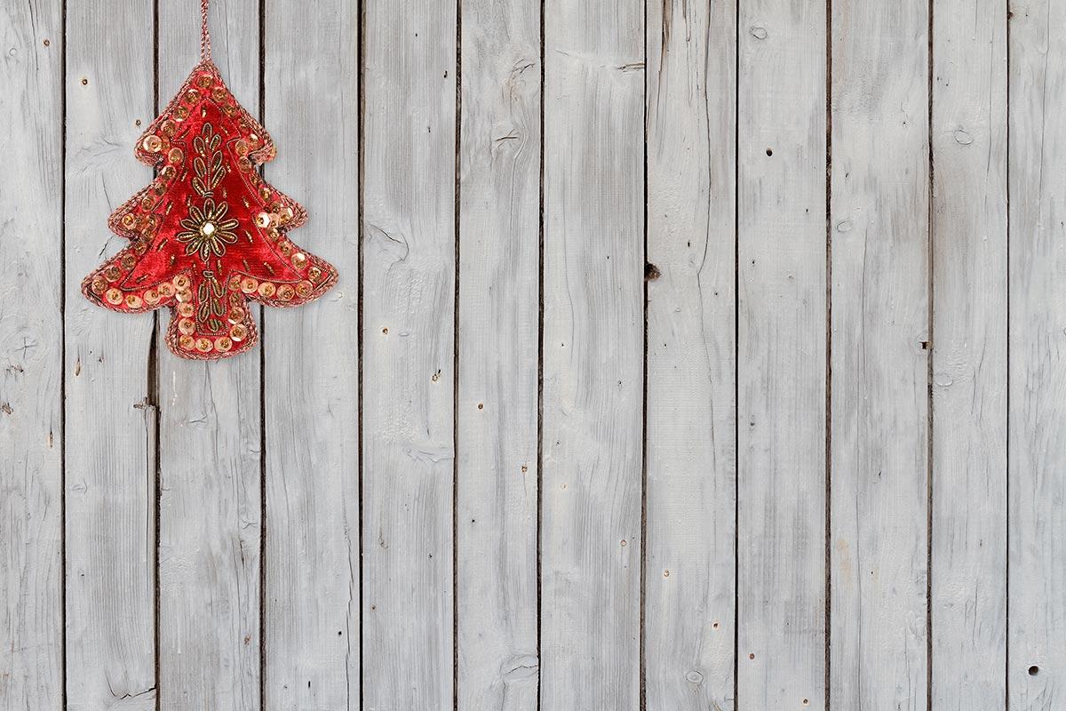 Weihnachtliche Wanddekoration