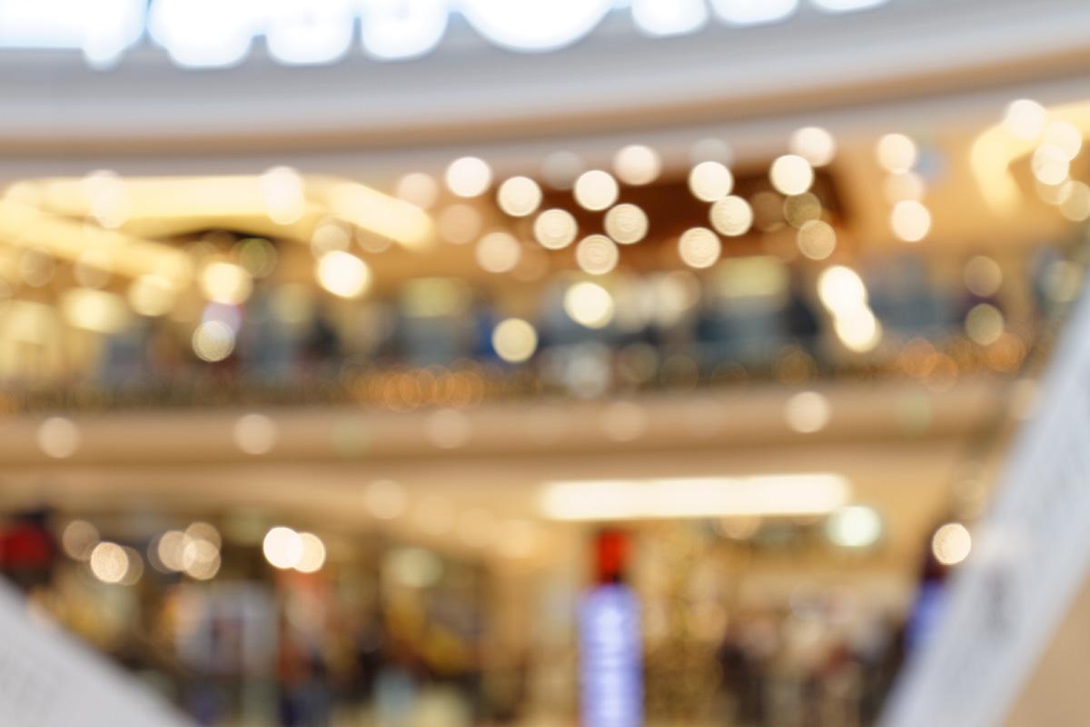 Weihnachtliche Impressionen eines Einkaufszentrums