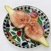 Aufgeschnittene Frucht, aus: Das Fruchtfleisch der Feigen