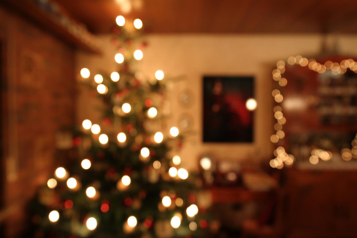 Weihnachtszimmer an Heilig Abend 2017