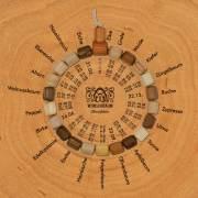 Wunschbaum-Manufaktur: Baumkreis-Armband mit Lebensbaum-/Geburtstag-Zuordnungen nach keltischem Baumkalender, aus: Die neue Baumkreiskarte ist da