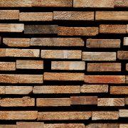 Nahaufnahme der Schnittkanten eines Baumholz-Lattenstapels I, aus: Abstrakt natürliche Struktur